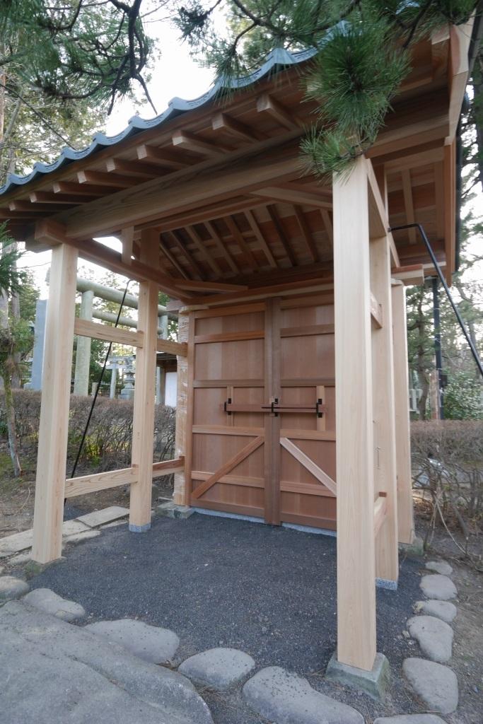 木製門 復元工事